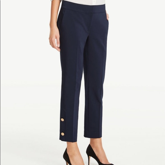 Ann Taylor Pants - ANN TAYLOR Navy Dress Work Pants with Gold Buttons